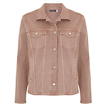 Buy Mint Velvet Frayed Hem Denim Jacket, Neutral Online at johnlewis.com