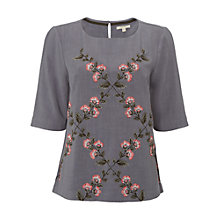 Buy White Stuff Perfect Spring Floral Embroidered Top, Surrealist Online at johnlewis.com
