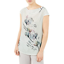 Buy Jacques Vert Printed Silk Front Cowl Neck Top, Multi Online at johnlewis.com