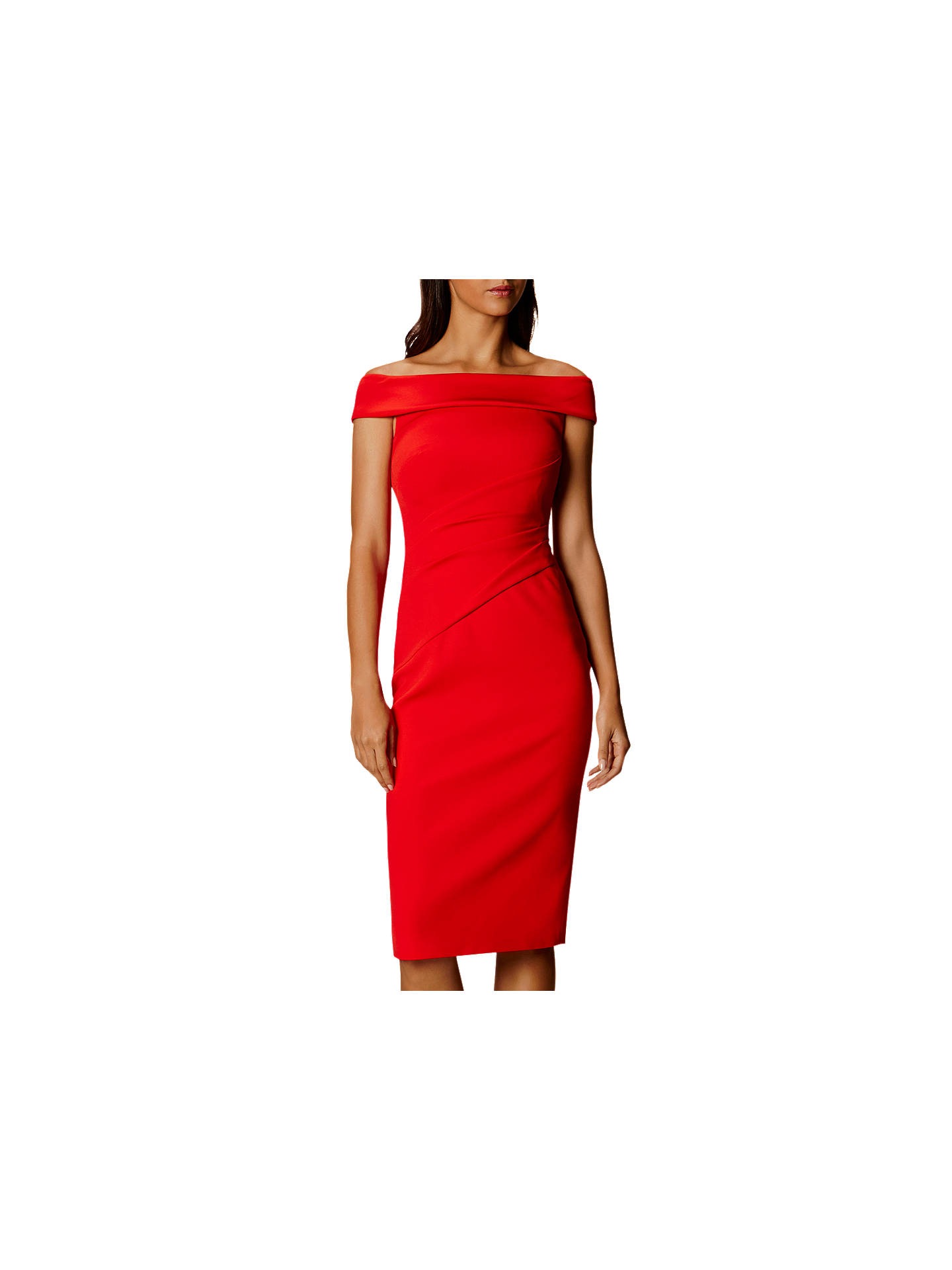 d8342a75affd Buy Karen Millen Bardot Shoulder Pencil Dress, Red, 6 Online at  johnlewis.com ...