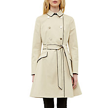 Buy Ted Baker Gilliy Skirted Mac, Taupe Online at johnlewis.com
