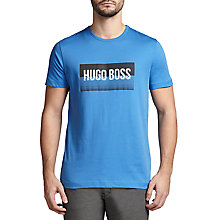 Buy BOSS Green Tee 1 Logo Cotton T-Shirt Online at johnlewis.com