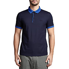 Buy BOSS Green C-Genova Cotton Pique Mesh Collar Polo Shirt Online at johnlewis.com