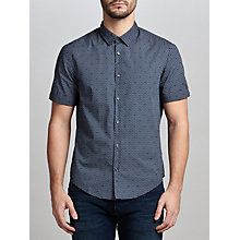 Buy BOSS Green C-Boccino Slim Fit Printed Poplin Shirt, Navy Online at johnlewis.com