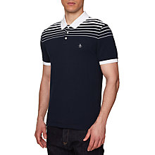 Buy Original Penguin Short Sleeve Polo Shirt, Dark Sapphire Online at johnlewis.com