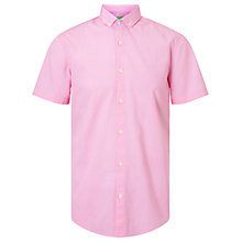 Buy BOSS Green C-Bonettino Printed Poplin Short Sleeve Shirt, Open Purple Online at johnlewis.com