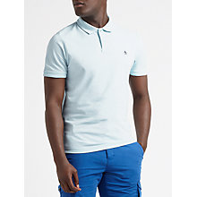 Buy Original Penguin Raised Rib Polo Shirt, Blue Glow Online at johnlewis.com