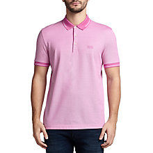 Buy BOSS Green C-Vito Cotton Pique Polo Shirt, Open Purple Online at johnlewis.com