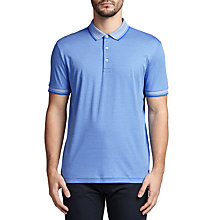 Buy BOSS Green C-Janis Striped Polo Shirt, Medium Blue Online at johnlewis.com