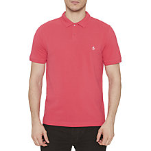 Buy Original Penguin Raised Rib Polo Shirt, Raspberry Online at johnlewis.com