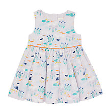Buy John Lewis Baby Stork Print Dress, Lilac Online at johnlewis.com