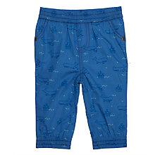 Buy John Lewis Baby Ocean Print Bottoms, Blue Online at johnlewis.com