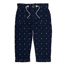 Buy John Lewis Baby Textured Trousers, Navy Online at johnlewis.com