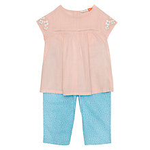 Buy John Lewis Baby Floral Top and Bottoms, Pink/Turquoise Online at johnlewis.com