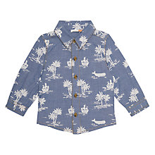 Buy John Lewis Baby Ocean Print Shirt, Blue Online at johnlewis.com