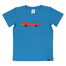 Buy Polarn O. Pyret Baby Car T-Shirt, Blue Online at johnlewis.com