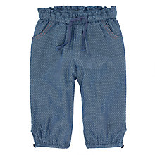 Buy John Lewis Baby Chambray Tassel Trousers, Blue Online at johnlewis.com