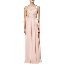 Buy Adrianna Papell Sleeveless Beaded Bodice Godet Gown Online at johnlewis.com