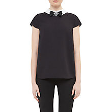 Buy Ted Baker Bayleta Embellished Bow Cap Sleeve Top Online at johnlewis.com
