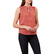 Buy Hobbs Kate Blouse, Cayenne/White Online at johnlewis.com