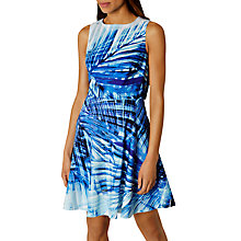 Buy Karen Millen Palm Print Dress, Blue/Multi Online at johnlewis.com