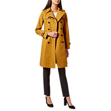 Buy Hobbs London Saskia Trench Coat, Deep Gold Online at johnlewis.com