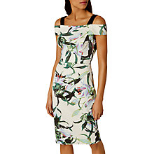 Buy Karen Millen Tropical Lily Print Dress, Blue Online at johnlewis.com