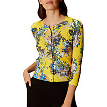 Buy Karen Millen Blossom Cardigan, Yellow/Multi Online at johnlewis.com