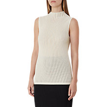 Buy Reiss Mimi Stitch Detail Tank Top, Off White Online at johnlewis.com