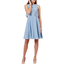 Buy Hobbs Margot Dress, Chalk Blue Online at johnlewis.com
