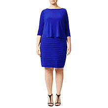 Buy Adrianna Papell Plus Size Banded Two-For Dress, Sapphire Online at johnlewis.com
