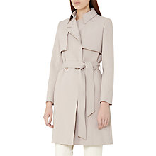 Buy Reiss Somerset Long Trench Coat, Tiramisu Online at johnlewis.com