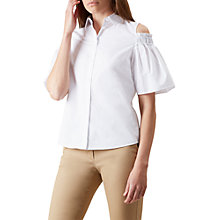 Buy Hobbs Emily Shirt, White Online at johnlewis.com