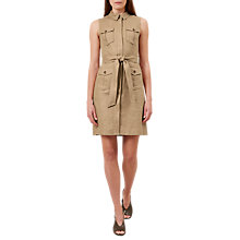 Buy Hobbs Becca Safari Dress, Tawny Online at johnlewis.com