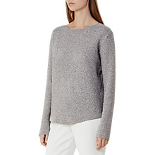 Buy Reiss Roxanne Metallic Knit Jumper, Silver Online at johnlewis.com