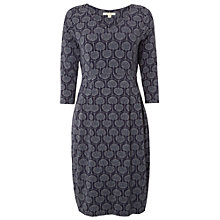 Buy White Stuff Tess Jersey Dress, Wallpaper Blue Online at johnlewis.com