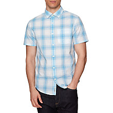Buy Original Penguin Short Sleeve Plaid Shirt, French Blue Online at johnlewis.com