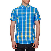 Buy Original Penguin Seesucker Short Sleeve Shirt, French Blue Online at johnlewis.com