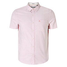Buy Hilfiger Denim Short Sleeve Stripe Shirt, Pink Icing Online at johnlewis.com
