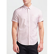 Buy Original Penguin Short Sleeve Stripe Shirt, Pink Icing Online at johnlewis.com