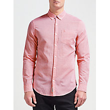 Buy Original Penguin Long Sleeve Slub Linen Feeder Stripe Shirt Online at johnlewis.com