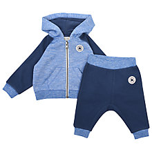 Buy Converse Baby Raglan Hoodie and Joggers Set, Navy Online at johnlewis.com