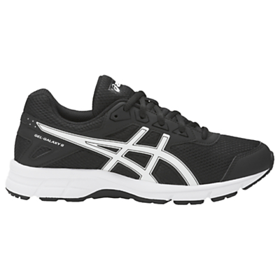 Asics Children's Gel-Galaxy 9 GS Cushioned Laced Trainers, Black/White