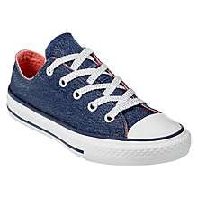 Buy Converse Children's Chuck Taylor All Star Ox Trainers, Navy Glitter Online at johnlewis.com
