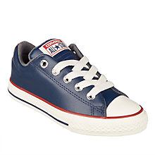 Buy Converse Children's Chuck Taylor All Star Slip Trainers, Navy Online at johnlewis.com