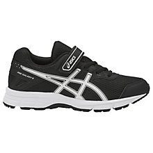 Buy Asics Children's Pre-Galaxy 9 PS Riptape Laced Trainers, Black/White Online at johnlewis.com