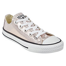 Buy Converse Children's Chuck Taylor All Star Trainers, Rose Gold Online at johnlewis.com
