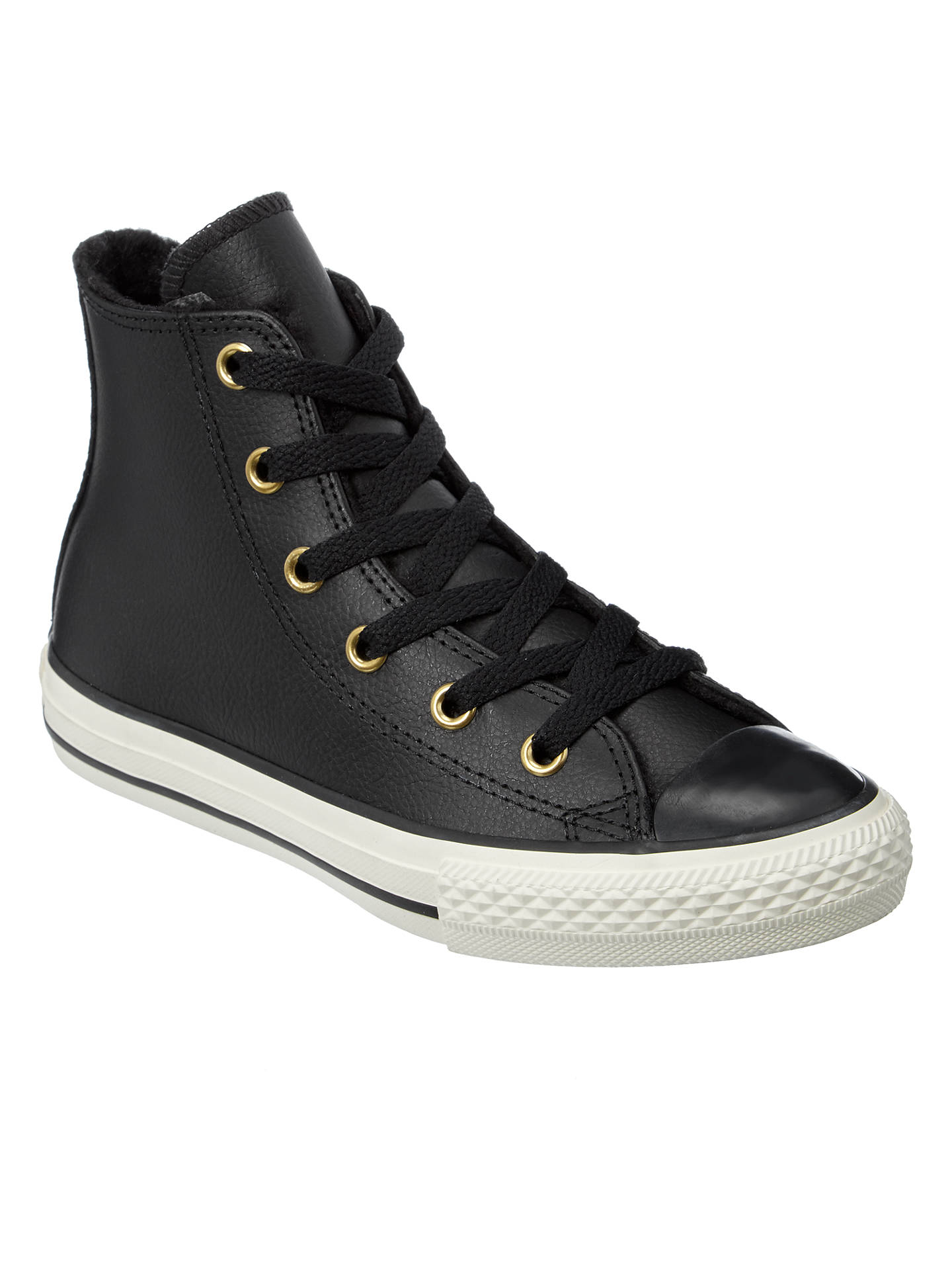 8ecd85e3c68 Converse Chuck Taylor All Star Leather Hi-Top Trainers at John Lewis ...