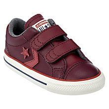 Buy Converse Children's Star Player 2V Double Riptape Shoes Online at johnlewis.com