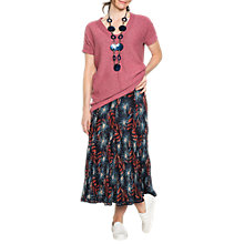 Buy East Anokhi Amrita Print Crinkle Skirt, Indigo Online at johnlewis.com